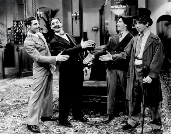 THE COCOANUTS, The Marx Brothers (Zeppo Marx, Groucho Marx, Chico Marx, Harpo Marx), 1929