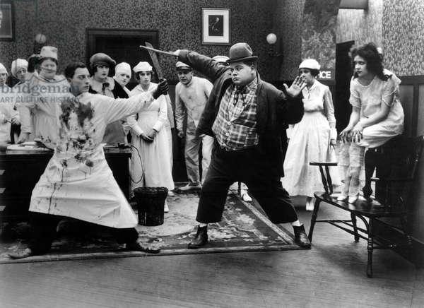 Fatty a la clinique: GOOD NIGHT NURSE, Buster Keaton, Roscoe 'Fatty' Arbuckle, 1918