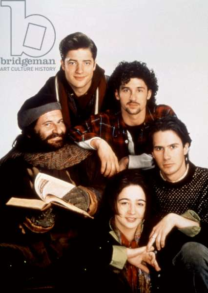 WITH HONORS, (clockwise from left): Joe Pesci, Brendan Fraser, Patrick Dempsey, Josh Hamilton, Moira Kelly, 1994, (c)Warner Bros./courtesy Everett Collection