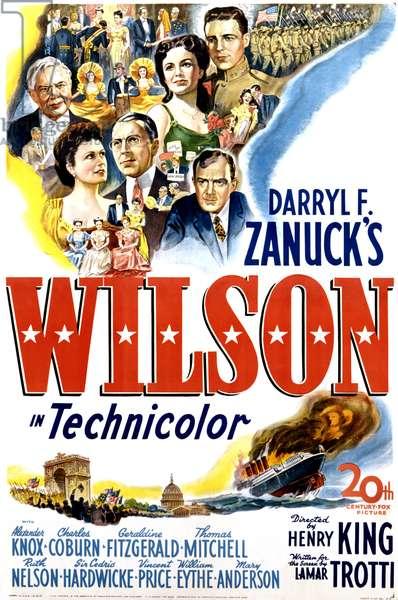 WILSON: WILSON, US poster art, Alexander Knox, 1944