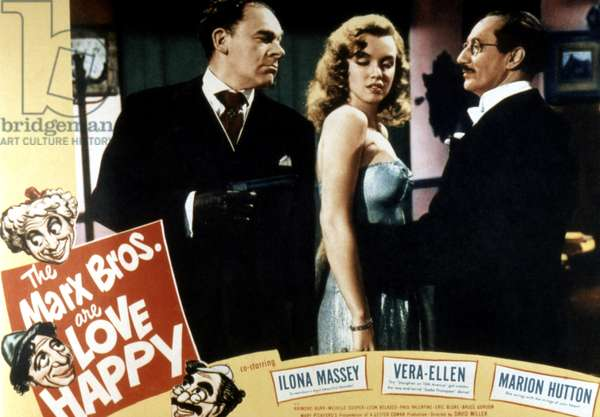 LOVE HAPPY, Otto Waldis, Marilyn Monroe, Groucho Marx, 1949