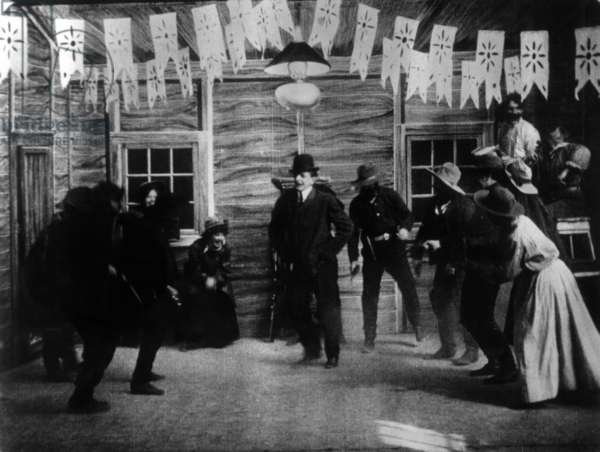 Gilbert Anderson (aka Broncho Billy Anderson) in 'The Great Train Robbery', 1903 (b/w photo)