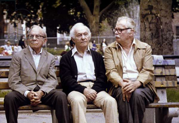 GOING IN STYLE, George Burns, Lee Strasberg, Art Carney, 1979, (c) Warner Brothers/courtesy Everett Collection