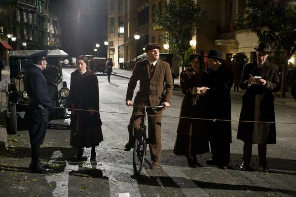 J.Edgar: J. EDGAR, Leonardo DiCaprio as J. Edgar Hoover (on bicycle), 2011. ph: Keith Bernstein/©Warner Bros./courtesy Everett Collection
