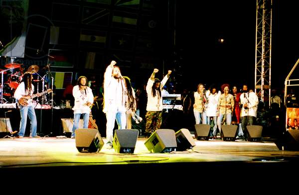 AFRICA UNITED, the family of reggae singer Bob Marley performing at the 2005 Africa Unite concert in Addis Ababa, Ethiopia, 2008. ©Palm Pictures/courtesy Everett Collection