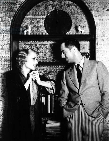 Carole Lombard, William Powell at home in the early 1930s