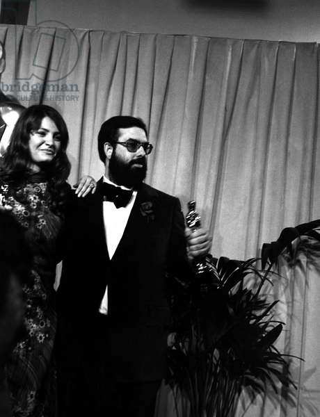 THE GODFATHER, Francis Ford Coppola with Academy Award, 1972