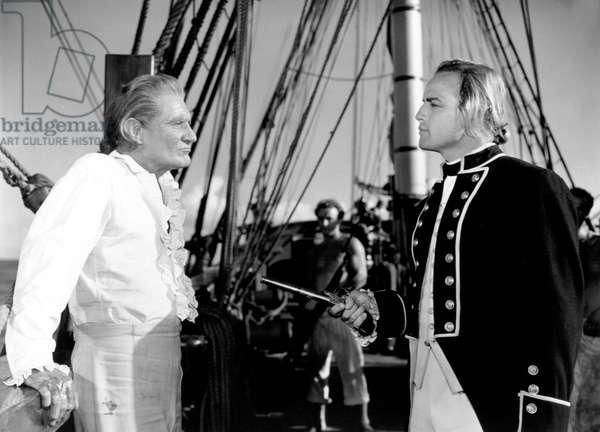 MUTINY ON THE BOUNTY, Trevor Howard, Marlon Brando, 1962.