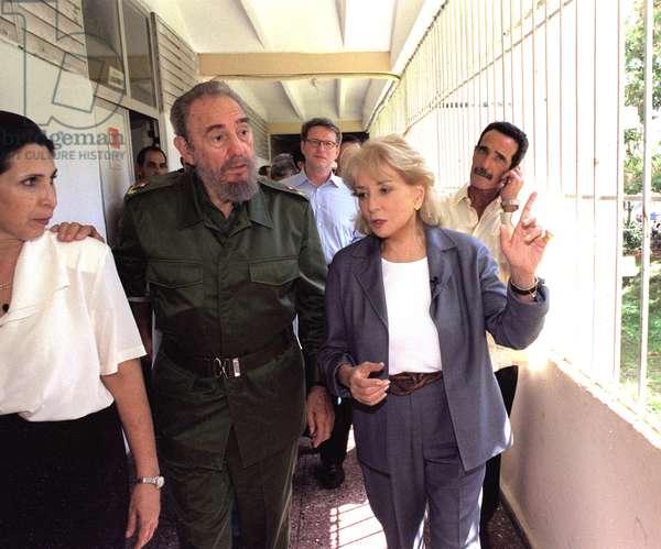 Barbara Walters et Fidel Castro