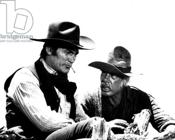 MONTE WALSH, from left, Jack Palance, Lee Marvin, 1970
