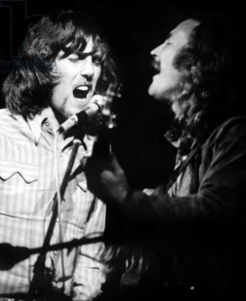 Graham Nash et David Crosby a Woodstock: WOODSTOCK, from left: Graham Nash, David Crosby, 1970