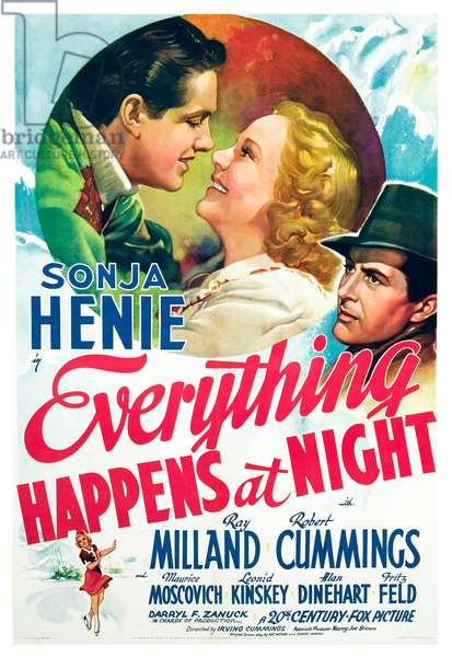 Everything Happens at Night: EVERYTHING HAPPENS AT NIGHT, Robert Cummings, Sonja Henie, Ray Milland, 1939, TM and Copyright ©20th Century Fox Film Corp. All rights reserved./courtesy Everett Collection