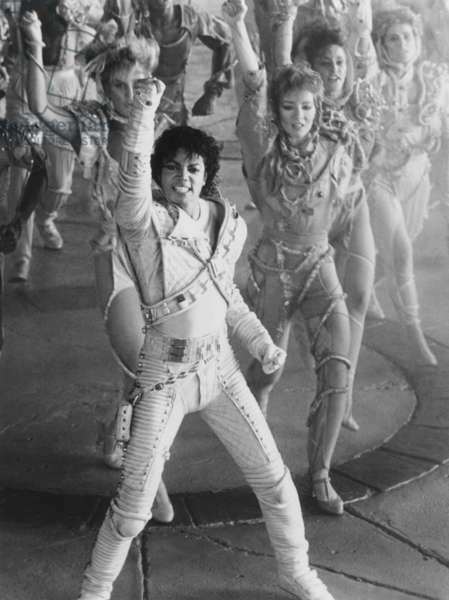 CAPTAIN EO, Michael Jackson (front), 1986, � Buena Vista/courtesy Everett Collection