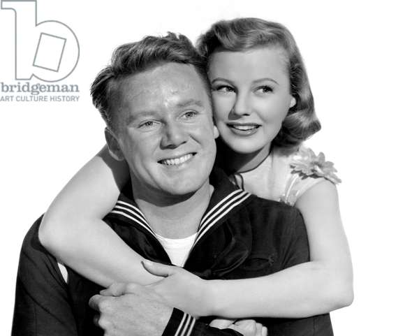 TWO GIRLS AND A SAILOR, Van Johnson, June Allyson, 1944