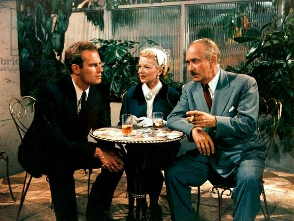 LUCY GALLANT, Charlton Heston, William Demarest, Claire Trevor, 1955