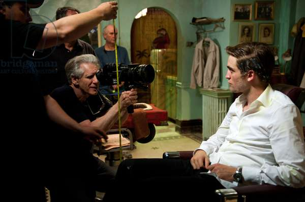 Cosmopolis: COSMOPOLIS, from left: director David Cronenberg, Robert Pattinson on set, 2012, Ph: Caitlin Cronenberg, © Entertainment One/courtesy Everett Collection