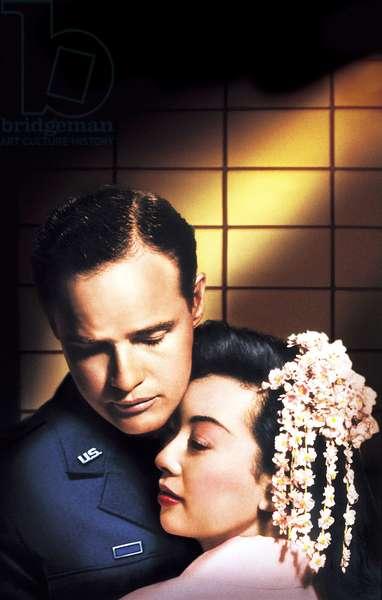 SAYONARA, Marlon Brando, Miiko Taka, 1957