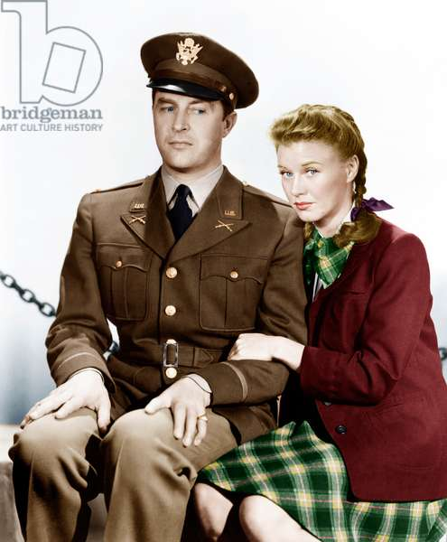 THE MAJOR AND THE MINOR, from left: Ray Milland, Ginger Rogers, 1942