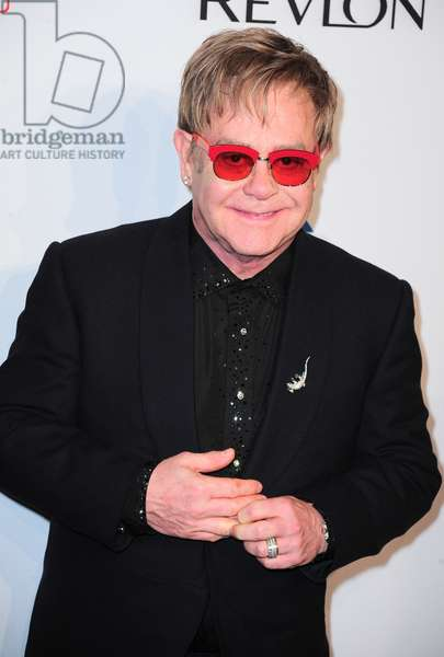 Elton John at arrivals for Elton John AIDS Foundation's 12th Annual 'An Enduring Vision' Benefit, Cipriani Wall Street, New York, NY October 15, 2013. Photo By: Gregorio T. Binuya/Everett Collection