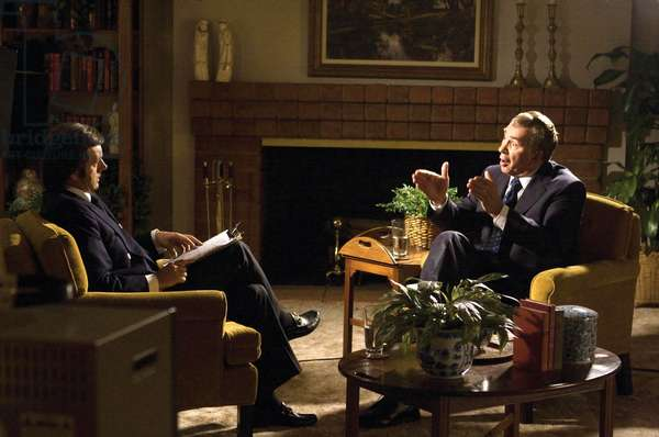 Frost/Nixon: FROST/NIXON, from left: Michael Sheen as David Frost, Frank Langella as Richard Nixon, 2008. ©Universal/courtesy Everett Collection
