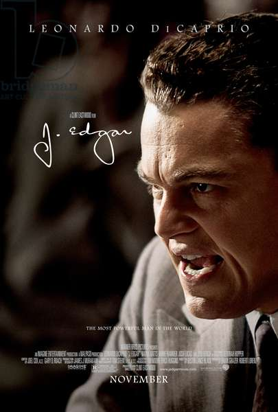 J. EDGAR, Leonardo DiCaprio on US poster art, 2011, ©Warner Bros. Pictures/courtesy Everett Collection