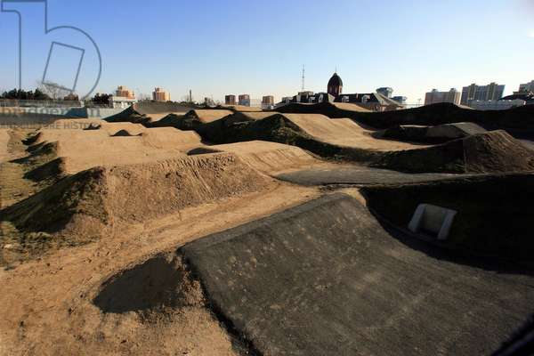 Dec 30, 2007, Beijing, China, A general view of the Laoshan Bicycle Moto Cross (BMX) Venue, the venue for the Cycling (BMX) event on location for Beijing 2008 Olympic Games - VENUE PREVIEW, Olympic venues, Beijing, China, July 30, 2008. Photo by: Top Photo/Courtesy Everett Coll/USA RIGHTS ONLY