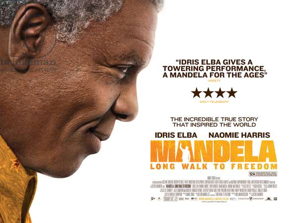 MANDELA: LONG WALK TO FREEDOM, British poster art, Idris Elba, as Nelson Mandela, 2013. /©Weinstein Company/courtesy Everett Collection