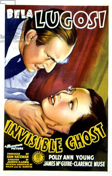 INVISIBLE GHOST, Bela Lugosi, Polly Ann Young, 1941