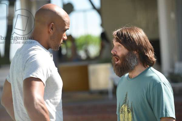 THE LAST MAN ON EARTH, l-r: Boris Kodjoe, Will Forte in 'A Real Live Wire' (Season 2, Episode 6, aired November 8, 2015). ph: Michael Becker/©Fox/courtesy Everett Collection