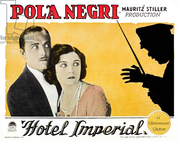 Hotel Imperial: HOTEL IMPERIAL, from left: James Hall, Pola Negri, 1927