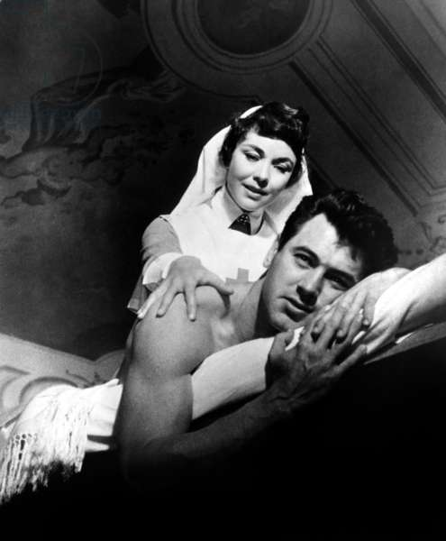 L'Adieu aux armes (1957): A FAREWELL TO ARMS, Jennifer Jones, Rock Hudson, 1957. TM and Copyright © 20th Century Fox Film Corp. All rights reserved. Courtesy: Everett Collection.