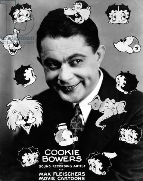 COOKIE BOWERS, voice for many Fleischer studio cartoons, ca. 1930s