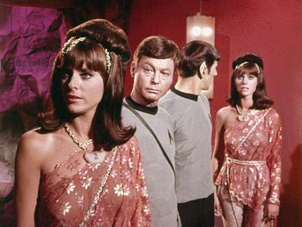 STAR TREK, DeForest Kelley, Leonard Nimoy, android women, 1966-1969
