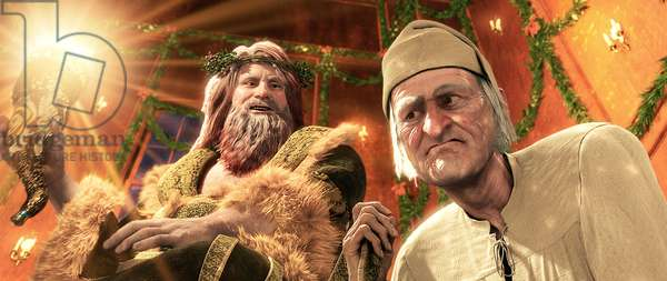 A CHRISTMAS CAROL, Scrooge (right, voice: Jim Carrey), 2009. ©Walt Disney Studios Motion Pictures/Courtesy Everett Collection