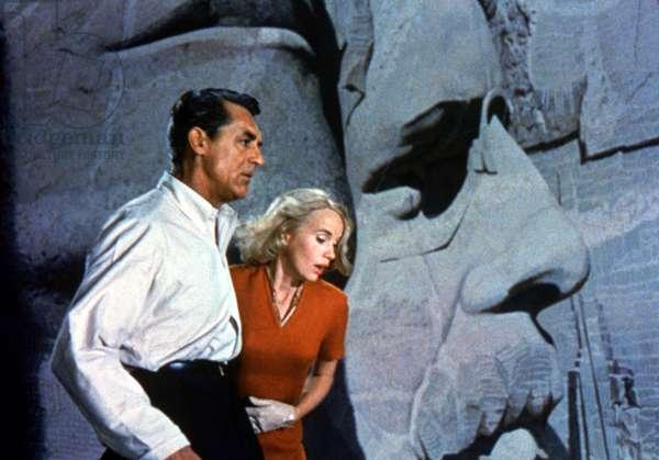 NORTH BY NORTHWEST, Cary Grant, Eva Marie Saint, 1959.