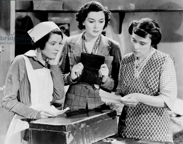 La force des tenebres: NIGHT MUST FALL, from left: Eily Malyon, Rosalind Russell, Merle Tottenham, 1937