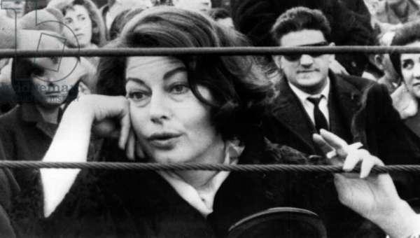 Ava Gardner at bullfights, Madrid, Spain, 02-09-1964.