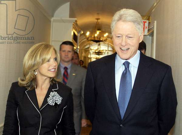 THE TODAY SHOW, Katie Couric, Bill Clinton, 1952-, photo: © NBC / Courtesy: Everett Collection