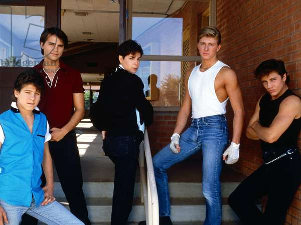 JUST ONE OF THE GUYS, Billy Jacoby, Clayton Rohner, Joyce Hyser, William Zabka, Steve Basil, 1985, (c) Columbia/courtesy Everett Collection