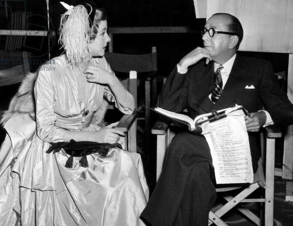 Margaret Leighton et Noel Coward: THE ASTONISHED HEART, Margaret Leighton, Noel Coward, on-set, 1950
