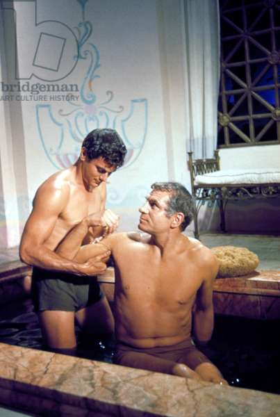 SPARTACUS, Tony Curtis, Laurence Olivier, 1960