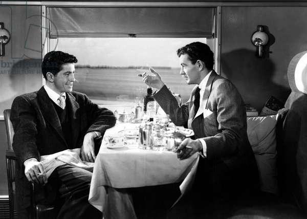 STRANGERS ON A TRAIN, Farley Granger, Robert Walker, 1951