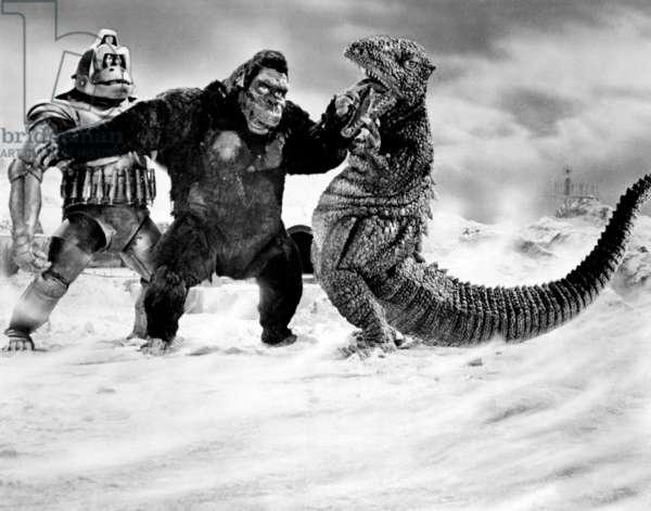 King-Kong s'est echappe 1967: KING KONG ESCAPES, (aka KINGUKONGO NO GYAKUSHU), Mekanikongu, (Hiroshi Sekita), Kingukongu, (Haruo Nakajima), Godzilla, 1967