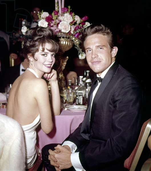 Natalie Wood with Warren Beatty, 1960s.