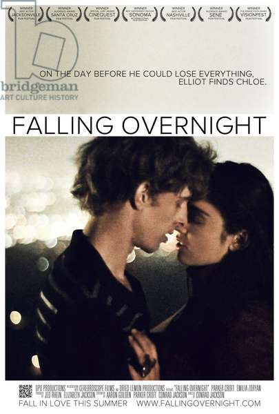 FALLING OVERNIGHT: FALLING OVERNIGHT, US poster art, from left: Parker Croft, Emilia Zoryan, 2011. ©Osiris Entertainment/Courtesy Everett Collection