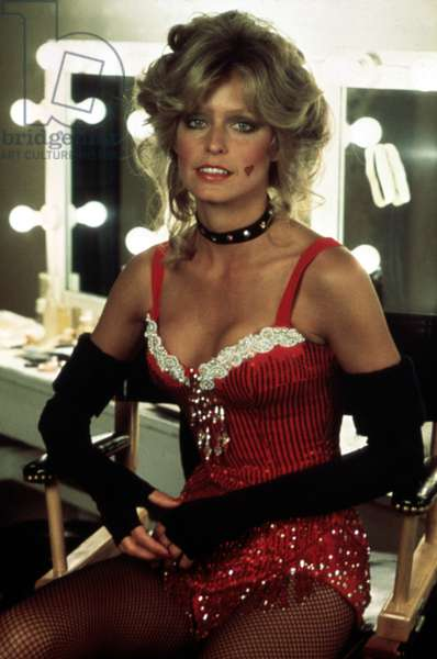 CHARLIE'S ANGELS, Farrah Fawcett, 1976-1981, in dressing room in circus tights