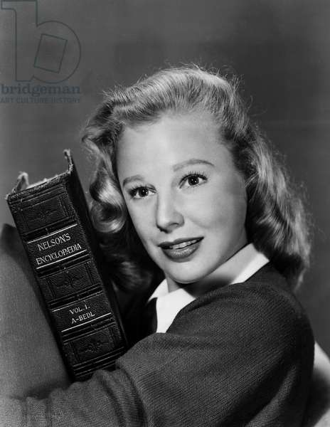 JUNE ALLYSON MGM publicity shot after being voted college editors Most Lovable Girl of the Month, 03/28/47
