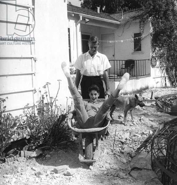 Natalie Wood and Tab Hunter, October 1955