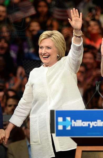 Hillary Clinton: Bill Clinton, Hillary Clinton, Chelsea Clinton in attendance for Hillary Clinton Primary Night Rally, Brooklyn Navy Yard, Brooklyn, NY June 7, 2016. Photo By: Kristin Callahan/Everett Collection