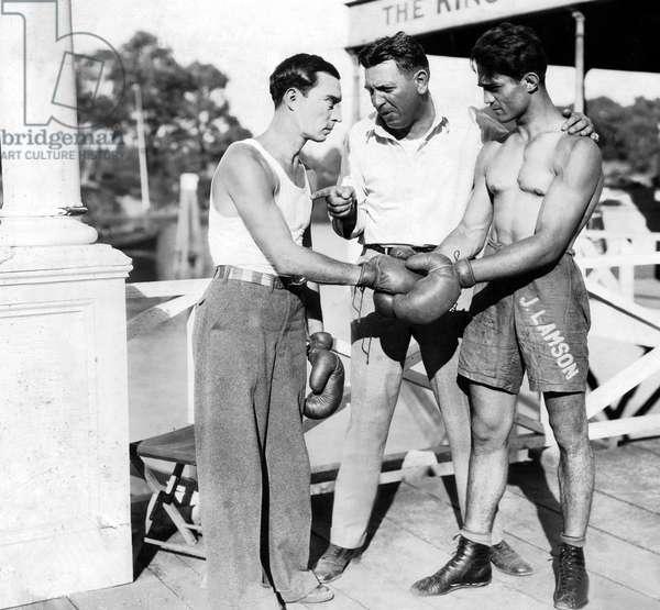 Buster Keaton with director Charles Reisner